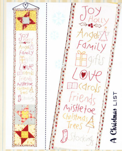 The Birdhouse sweet stitchery PATTERN A Christmas List PATTERN