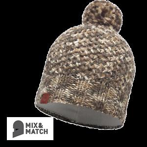 113513.316.10.00 BUFF HEADWEAR-Margo Marron Taupe//Gris Chapeau Knitted Hat