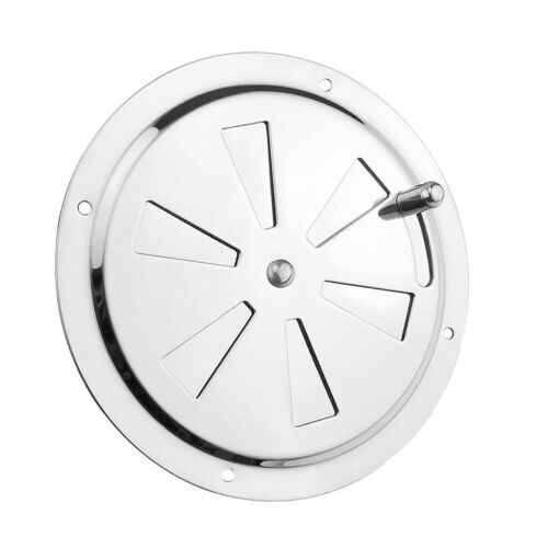 Round Push Pull Ventilator Vent Cover Stainless 128mm Marine Boat Hardware