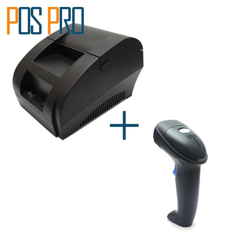 thermal receipt printer Mini 58mm POS Dot Bill Printer and barcode scanner usb