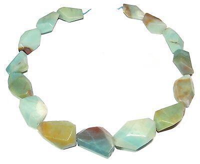 😏 Amazonit multicolor große geschnittene Nuggets Perlen Strang beads 😉 AMAZ-22