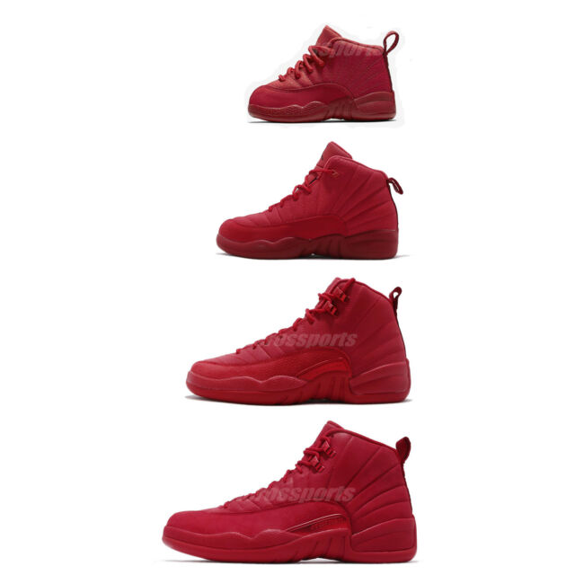 size 40 422b4 4c1de Nike Air Jordan 12 Retro Gym Red XII AJ12 Bulls Toro Men Women Kids PS TD  Pick 1