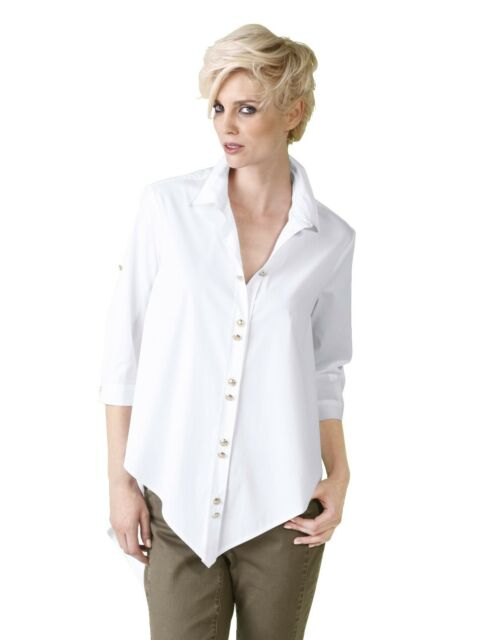 buying now cheapest pre order Alba Moda Oversized Blouse White Size 44 UK 18 Lf181 RR 09