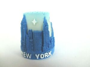 Reisen New York Fingerhut Thimble Poly,empire State Building,freiheitsstatue,chrysler ; Nähutensilien