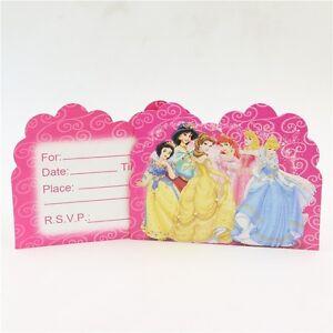 Details About Princesses Princess Jasmine Birthday Party Invitations 10 Pieces Kids New