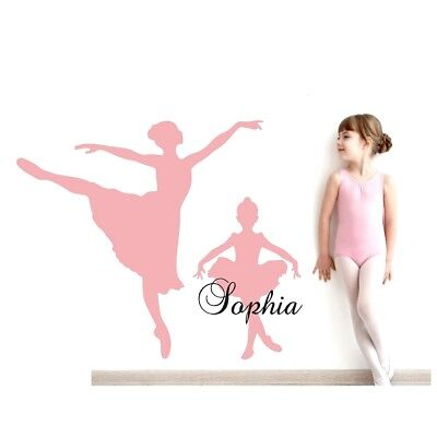 Ballerinas Wall Stickers Personalise Name For Girls Bedroom Vinyl Art Decal