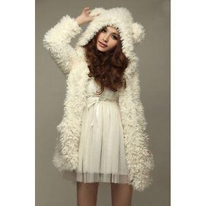 NEW-HOT-Girl-Women-Lady-Cute-Fleece-Warm-Winter-Wool-Coat-Jacket-Shaggy-Overcoat