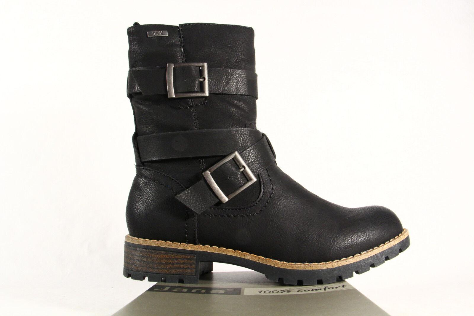 Jana Stiefelette, Stiefel,  26426 Boots  Tex schwarz 26426  NEU 9d08c9