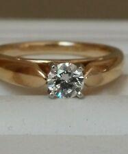 0.40 TCW Designer Diamond Engagement Ring-Heavy 5 grams 14K Gold and Platinum