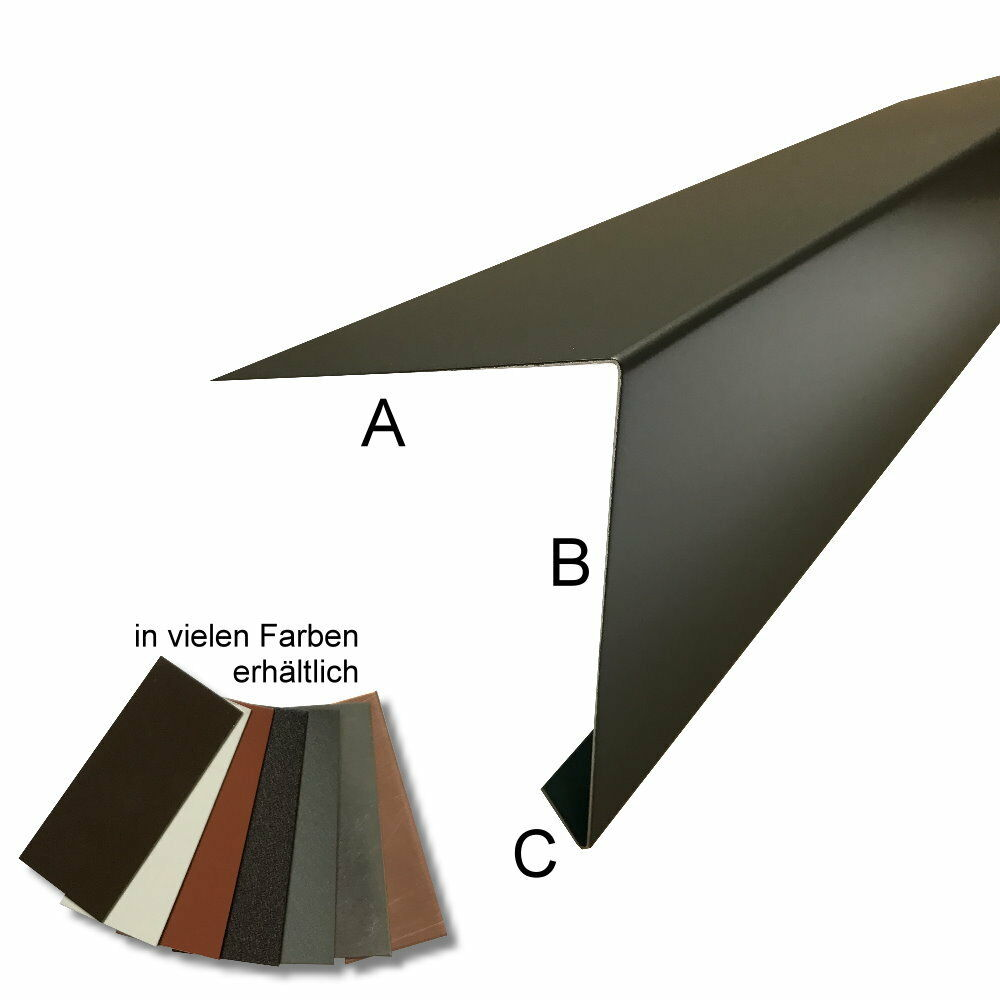 Aluminium Dachrandprofil Zuschnitt 333 mm - 3 Meter Anthrazit
