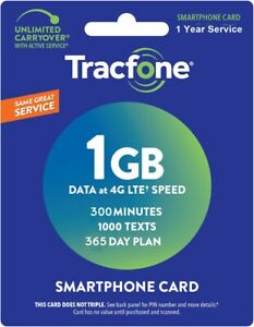 TracFone-Refill-Card-1-Year-Prepaid-300-minutes-1000-Text-1000-Data