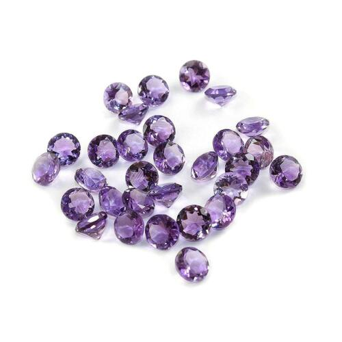 Wholesale Lot Natural Amethyst Round Cut Faceted Calibrated Size Loose Gemstone