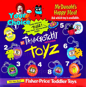 MIP-McDonald-039-s-1998-TAMAGOTCHI-TOYZ-Bandai-KEYCHAIN-Key-Ring-Pet-YOUR-TOY-CHOICE