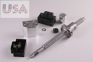 RM1605-350mm-ballscrew-with-Ballnut-housing-amp-coupler-and-BK-BF12-For-CNC