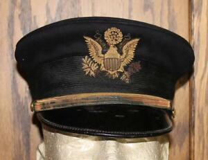 1902's US ARMY OFFICER'S DRESS BLUE HAT CAP EXCELLENT VINTAGE ORIGINAL