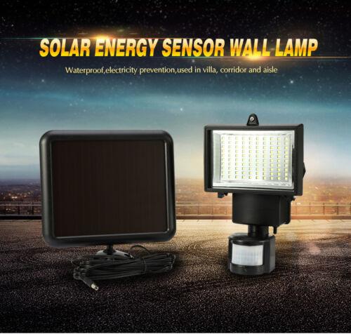 60//100//120 LEDs Solar Power Sensor Light Panel Security Garden Motion Floodlight
