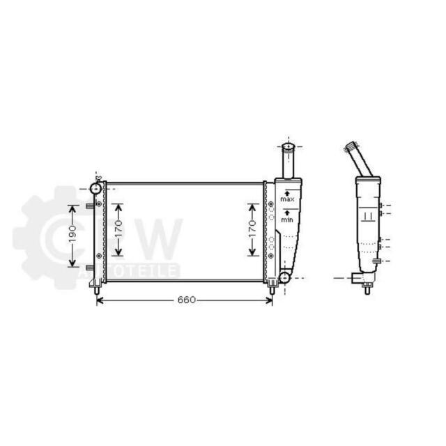 Refrigeración Del Motor Radiador Fiat Punto 188_ Van 188AX Idea 350