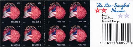 2014 49c The Star-Spangled Banner Fireworks, Booklet of