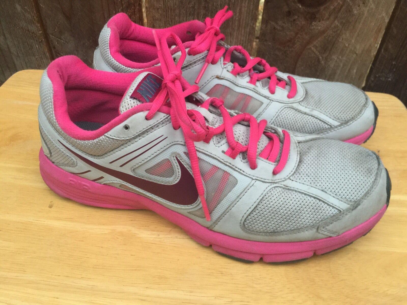 NIKE AIR Relentless 3 Womens Gray Pink Running Sneakers Shoes Sz 9.5