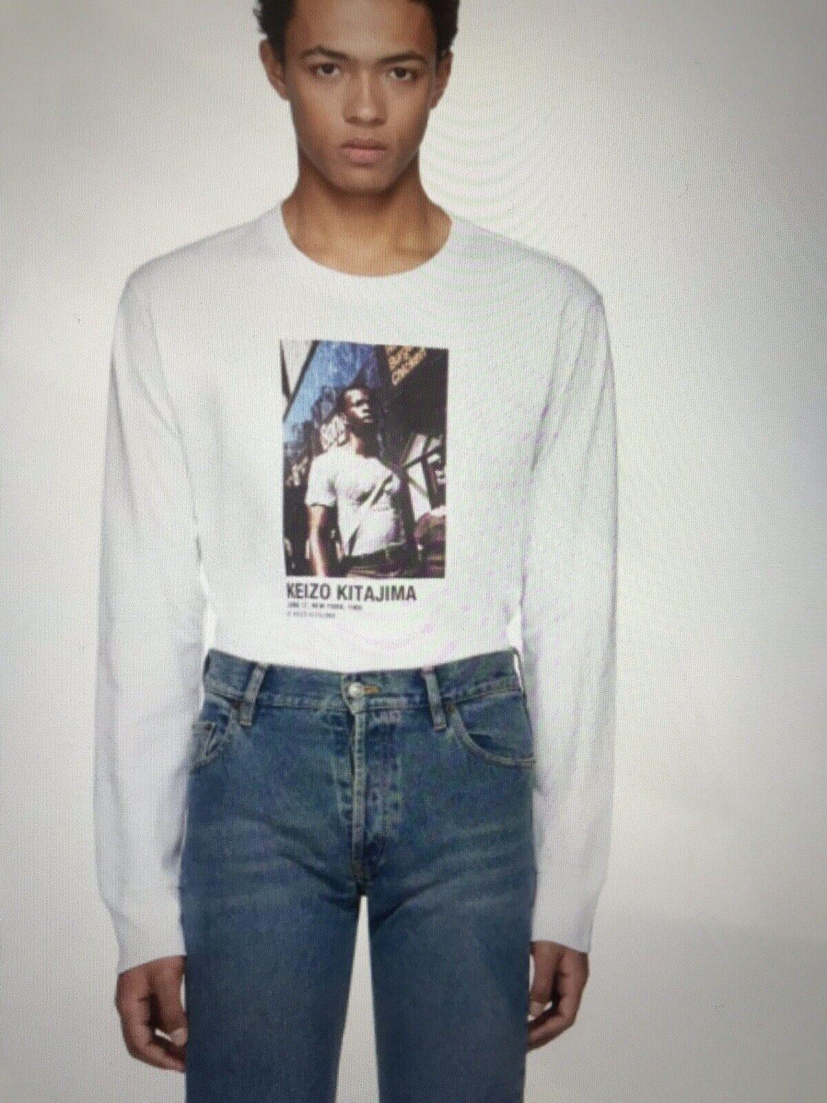 Nwt Helmut Lang Artist Series Long Sleeve T-Shirt S June 86 Keizo Kitajima