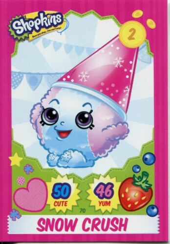 Topps Shopkins Series 1-4 Trading Cards Base Card #70 Snow Crush