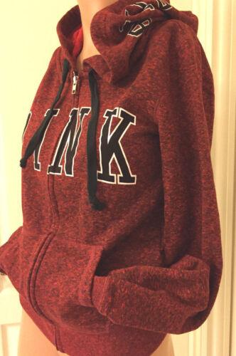 Perfect Red Zip Secret Xsmall Victoria's marled Hoodie Xs Pink wEAPnpq6