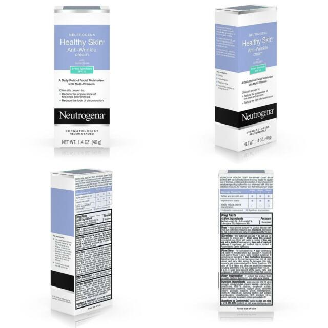 Neutrogena Healthy Skin Anti Wrinkle Cream w/ Multi Vitamins SPF 15, 1.4 oz New
