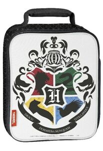 Harry-Potter-Thermos-Lunch-Bag-Tote-Hogwarts-School-of-Wizardry-Coat-of-Arms-New