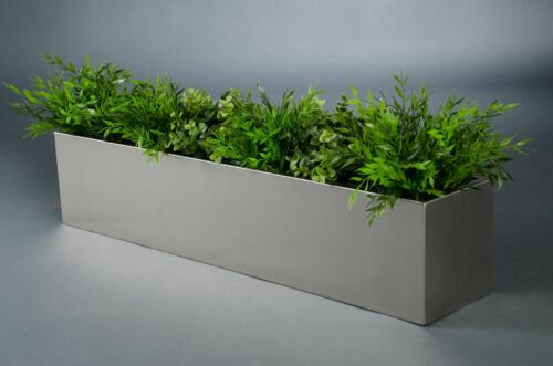"""riquadro /""""balkonix/"""" v2a in acciaio inox 80 cm Spazzolato CASSETTA per fiori cassetta da balcone"""