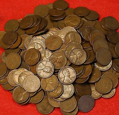 1940-S THRU 1955-S LINCOLN WHEAT CENT PENNY 250 COIN//5 ROLLS G-XF COLLECTOR