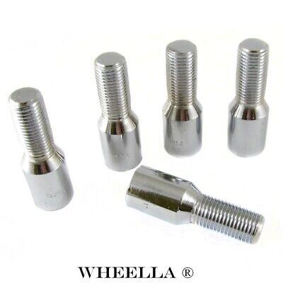 SCHWARZ M12 x 1.25 Radschrauben JR-Wheels 27mm STAHL 20 Stück lug nuts
