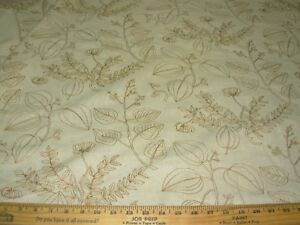 Details About Bty Fabricut Krotos Crewel Embroidered Drapery Upholstery Fabric For Less