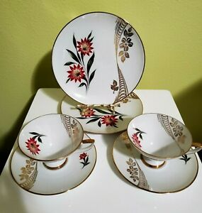 Vtg Winterling Roslau Bavaria Trio Tea Set -cup,saucer and dessert plate