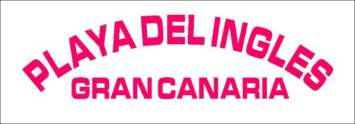 Gran Canaria Autocollant PLAYA DEL INGLES NEUF juste ici! diapositives coupe