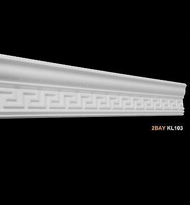 Muster Styroporleiste Zierleisten Zierprofile Stuckleisten 130mm x 50mm KL103