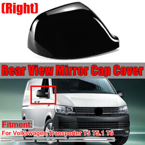 Right Driver O/S BLACK Wing Mirror Cover Cap For VW Transporter T5 T5.1