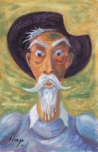 Llop-Quijote-26-mini-oleo-s-lienzo-original-y-enmarcado-32x24