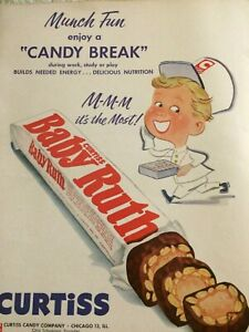 Baby Ruth, Curtiss Candy Bar, Full Page Vintage Print Ad ...