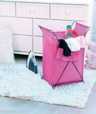 Wild Hot Pink Laundry Room Clothes Fabric Hamper Girl Room Bath Dorm Decor