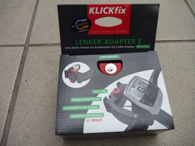 abschliessbarer KLICKFIX E-Lenkeradapter E-Bike Displays wie Bosch, Rixen & Kaul