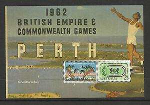 AUSTRALIA-1962-BRITISH-EMPIRE-GAMES-S-Sheet-MNH