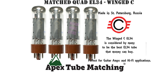 Want-the-best-Winged-C-EL34-Matched-Quad-Tube-Set-burned-in-for-max-durability