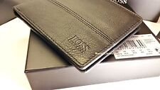 """NUOVO Designer Hugo boss portafoglio """"PALLINO"""" 10 slot di carta di credito, Slim Fold nero"""