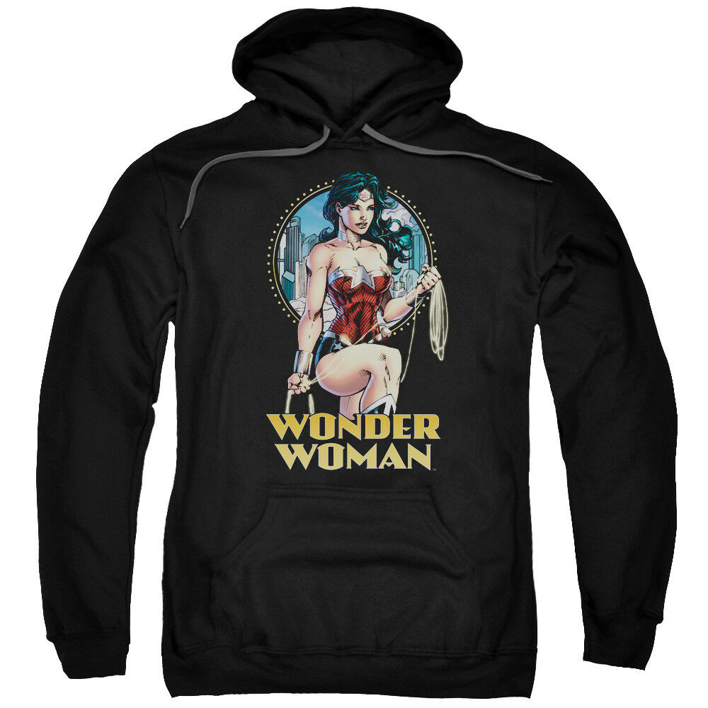 Justice League Wonder Woman City Warrior Pullover Hoodies for Men or Kids