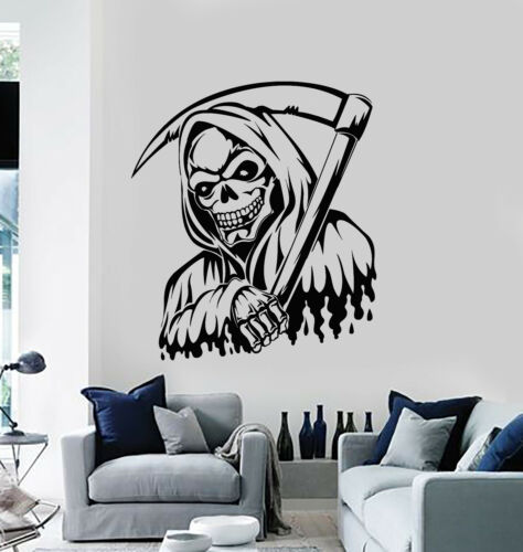 g1961 Details about  /Vinyl Wall Decal Grim Reaper Night Dead Skull Darkness Scythe Stickers