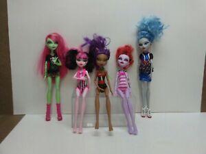 Mattel-Monster-High-Doll-Lot-Clawdeen-Ghoulia-Operetta-Venus-Draculaura