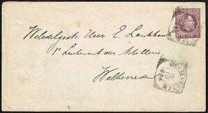 1423-NETHERLANDS-DUTCH-INDIES-PS-STATIONERY-ENVELOPE-1896-WELTEVREDEN-LOCAL-POST