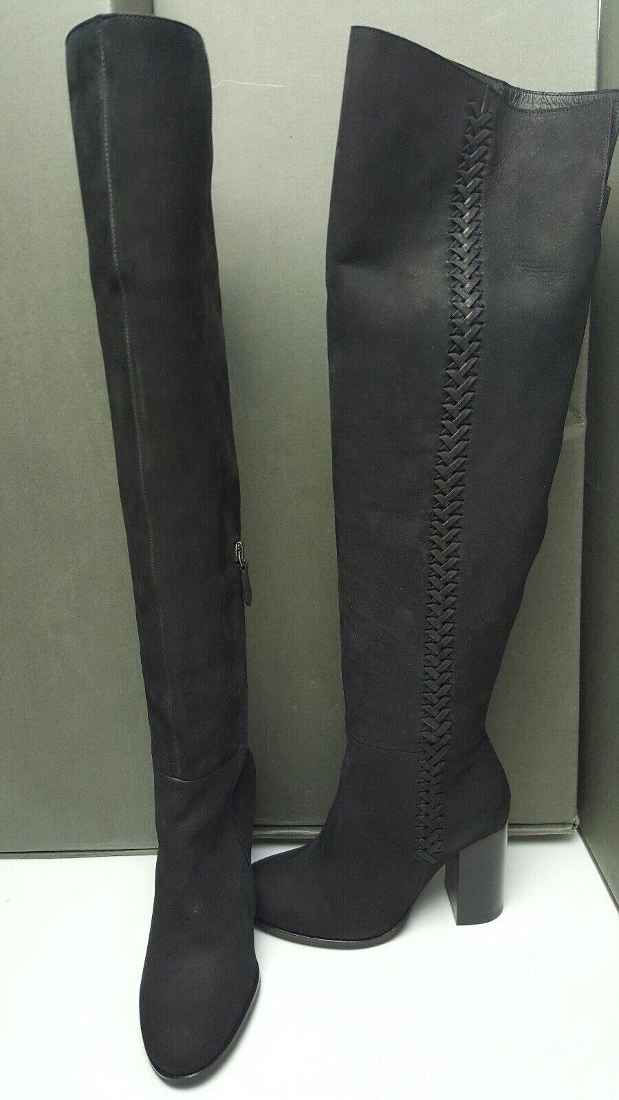 BNWB Allsaints Aubrey Knee High Negro Botas. /39. Gamuza .