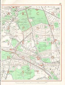 image is loading 1964 vintage london street map harrow sudbury