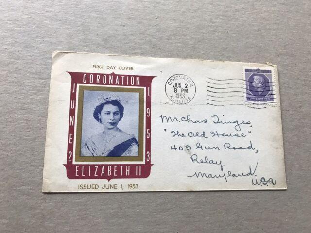 Canada 1953 FDC +QEII Coronation #SG461 +Uncommon Multi-Color Cachet +Neat